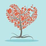 Abstrakcjonistyczny Wektorowy Płaski projekta drzewo royalty ilustracja