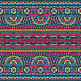 Abstrakcjonistyczny wektorowy plemienny etniczny bezszwowy wzór Obrazy Royalty Free
