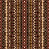 Abstrakcjonistyczny wektorowy plemienny etniczny bezszwowy wzór Zdjęcie Stock