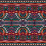 Abstrakcjonistyczny wektorowy plemienny etniczny bezszwowy wzór Fotografia Stock
