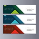 Abstrakcjonistyczny wektorowy sztandaru biznesu tło ilustracja wektor