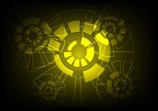 Abstrakcjonistyczny Wektorowy tło technologii pojęcie Obrazy Royalty Free