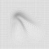 Abstrakcjonistyczny wektoru krajobrazu tło Cyberprzestrzeni siatka 3d technologii wektoru ilustracja Zdjęcie Stock
