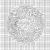 Abstrakcjonistyczny wektoru krajobrazu tło Cyberprzestrzeni siatka 3d technologii wektoru ilustracja Obrazy Stock