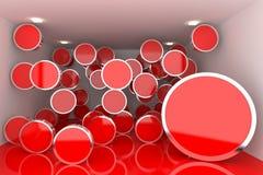 abstrakcjonistyczny wewnętrzny rendering Zdjęcie Stock