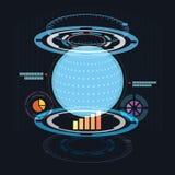Abstrakcjonistyczny światowy cyfrowy Zdjęcie Stock