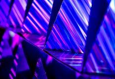 Abstrakcjonistyczny wibrujący koloru światło, refection i fotografia stock