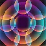 Abstrakcjonistyczny wibrujący tło z okręgami Zdjęcia Stock