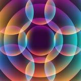 Abstrakcjonistyczny wibrujący tło z okręgami Zdjęcia Royalty Free