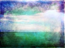 Abstrakcjonistyczny wibrujący wizerunek morze i niebo Obrazy Royalty Free