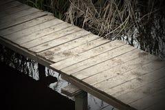 Abstrakcjonistyczny widok footbridge Obraz Stock