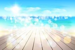 Abstrakcjonistyczny widok na plaży również zwrócić corel ilustracji wektora ilustracji