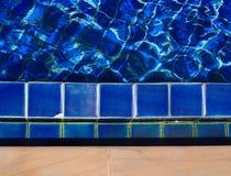 Abstrakcjonistyczny widok pływacki basen Fotografia Stock