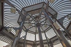 Abstrakcjonistyczny widok pagoda dach Obraz Stock