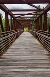 Abstrakcjonistyczny widok Stalowy Footbridge Zdjęcie Stock