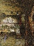 Abstrakcjonistyczny widok w sklep przez łamanego szkła Obrazy Royalty Free