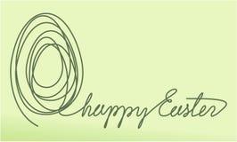 Abstrakcjonistyczny Wielkanocny tło z jeden kreskowego rysunku jajkiem ilustracja wektor