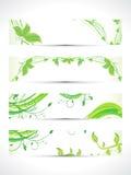 Abstrakcjonistyczny wieloskładnikowy eco sztandaru set ilustracja wektor