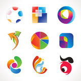 Abstrakcjonistyczny wieloskładnikowy kolorowy loga szablon Obraz Stock