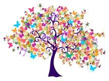 abstrakcjonistyczny wiosna czas drzewo obraz stock