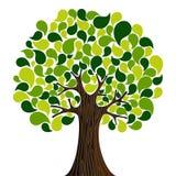 Abstrakcjonistyczny wiosna czas drzewo ilustracja wektor