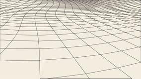 Abstrakcjonistyczny wireframe krajobrazu tło Cyberprzestrzeni siatka 3d technologii ilustracja Digital dla prezentacj Fotografia Royalty Free