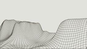 Abstrakcjonistyczny wireframe krajobrazu tło Cyberprzestrzeni siatka 3d technologii ilustracja Digital dla prezentacj Zdjęcie Royalty Free