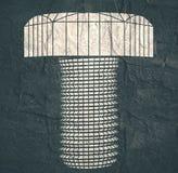 Abstrakcjonistyczny wireframe stylu rygiel Obrazy Royalty Free