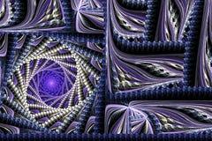 Abstrakcjonistyczny wiruje kwadratowy purpurowy fractal Zdjęcie Stock