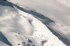 Abstrakcjonistyczny wizerunek śnieg na górze Obrazy Stock