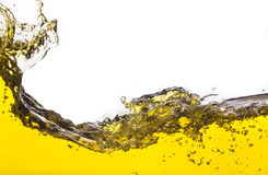 Abstrakcjonistyczny wizerunek żółty ciecz rozlewający zdjęcie royalty free