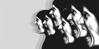 Abstrakcjonistyczny wizerunek arngry ludzie Fotografia Stock