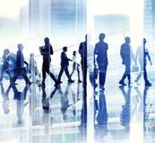 Abstrakcjonistyczny wizerunek Biznesowych osob Ruchliwie życie zdjęcia stock