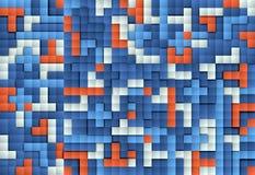 Abstrakcjonistyczny wizerunek bloku tło ilustracja wektor