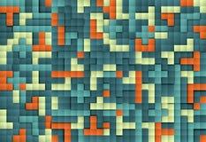 Abstrakcjonistyczny wizerunek bloku tło, wzorów bloki ilustracja wektor