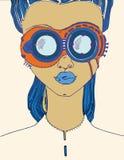 Abstrakcjonistyczny wizerunek dziewczyna Obraz Royalty Free