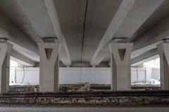 Abstrakcjonistyczny wizerunek geometryczni kształty z perspektywą budować most Zdjęcia Stock