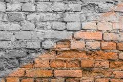 Abstrakcjonistyczny wizerunek haft ściana z cegieł tekstury grunge czerwony tło Zdjęcie Royalty Free