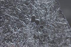 Abstrakcjonistyczny wizerunek naturalnego lodu powierzchni zbliżenie Zdjęcia Stock