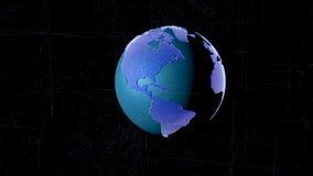 Abstrakcjonistyczny wizerunek planety ziemia w postaci nieba gwiaździstej przestrzeni lub, składać się z punkty, wykłada i kształ zdjęcie stock