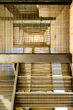Abstrakcjonistyczny wizerunek przemysłowi schodki Zdjęcia Royalty Free