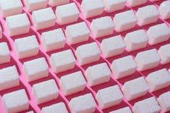 Abstrakcjonistyczny wizerunek równo interliniujący cukrowi sześciany Zdjęcia Royalty Free