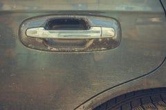 Abstrakcjonistyczny wizerunek stara samochodowa drzwiowa rękojeść Obraz Royalty Free