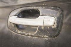 Abstrakcjonistyczny wizerunek stara samochodowa drzwiowa rękojeść Zdjęcie Stock