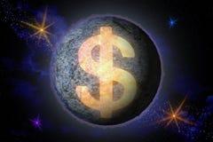 Abstrakcjonistyczny wizerunek symbol Amerykańska dolarowa waluta w th ilustracja wektor
