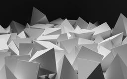 Abstrakcjonistyczny wizerunek szarzy trójboki Zdjęcie Royalty Free