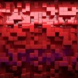 Abstrakcjonistyczny wizerunek sześciany deseniuje tło z perspektywą Zdjęcia Royalty Free