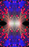 Abstrakcjonistyczny wizerunek z światłowodem Obraz Stock