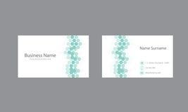Abstrakcjonistyczny wizytówka projekta wektoru szablon Zdjęcie Stock