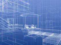 abstrakcjonistyczny wnętrze Obrazy Stock